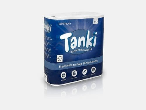 Tanki Soft Touch 2 Ply Sheet Toilet Roll - Pack of 9